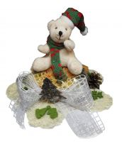 Weihnachtsnudelstrauss klein Teddy