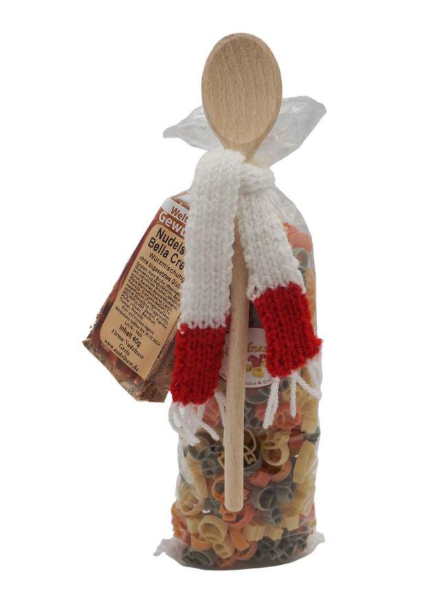 Weihnachtsnudeln mit Bommelmütze - Pasta als Kunden- und ...