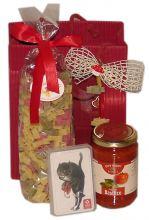 Geschenk Katzennudeln Schwarzer Kater und Sugo