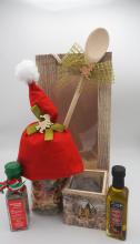 Weihnachtspräsent mit Weihnachtsnudeln, Olivenöl, ital. Kräutern & Kerzenschein