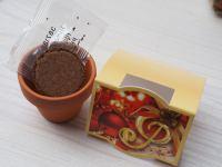 Strickstiefel mit Pasta, Gewürz und Blumentöpfchen