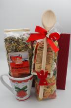 Weihnachtsgeschenk Pasta und Tee